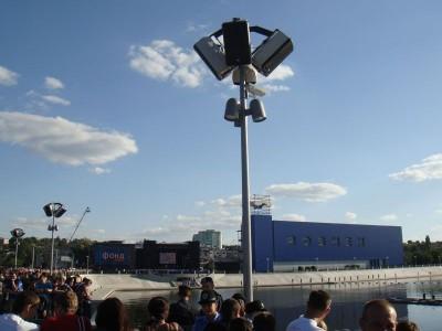Плавучий светомузыкальный фонтан в Виннице